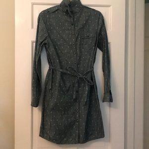 Brooks Brothers Women Denim Button Down Dress | 10